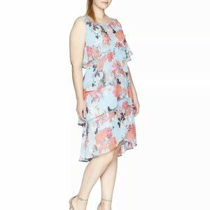S.L. Fashions Women's Plus Size Sleeveless Dress